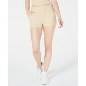 Material girl warm sand stretchy shorts